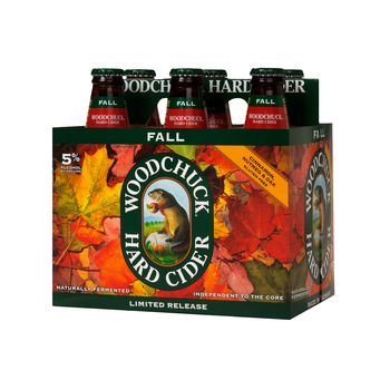 Six-pack of Woodchuck Fall cider.
