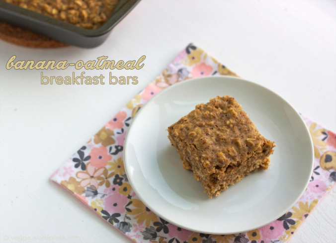 Banana-Oatmeal Breakfast Bars