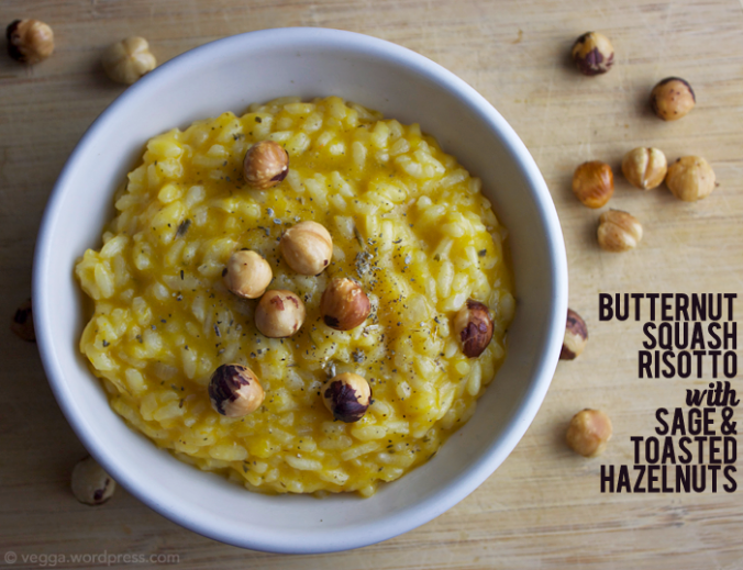 Butternut Squash Risotto with Sage and Toasted Hazelnuts