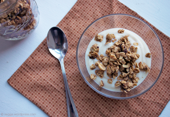 PB granola and vegan yogurt // govegga.com