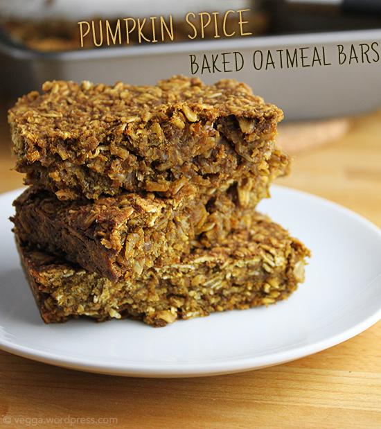 Pumpkin Spice Baked Oatmeal Bars