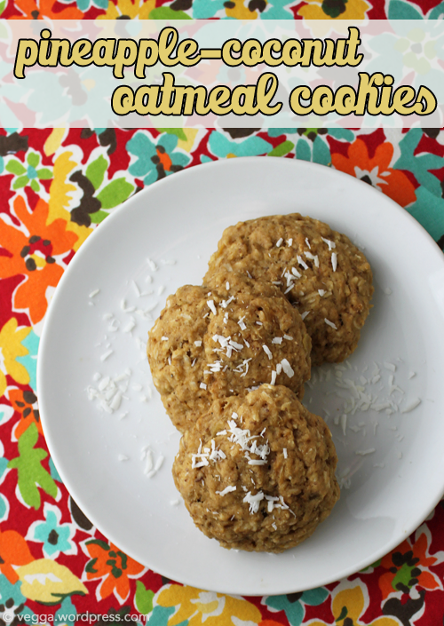Pineapple-Coconut Oatmeal Cookies
