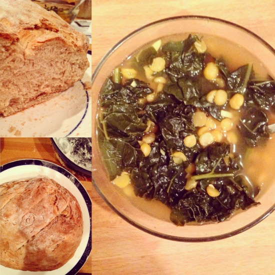 Kale and Yellow Split Pea Soup