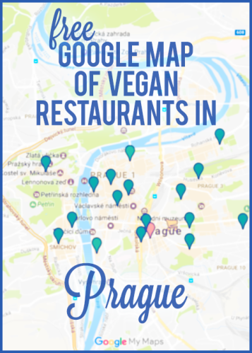 Free Google map of vegan restaurants in Prague