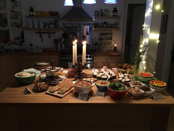 Holiday party spread 2015