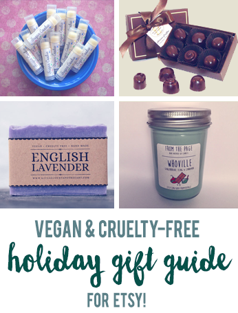 Vegan holiday gift guide for Etsy // govegga.com