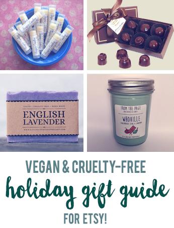 Vegan holiday gift guide for Etsy // govegga.com