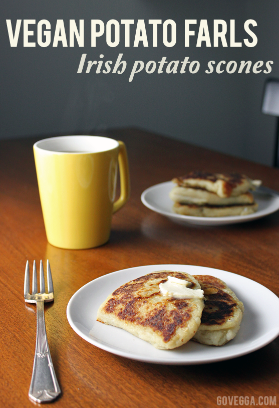 Vegan potato farls (Irish potato scones) // govegga.com