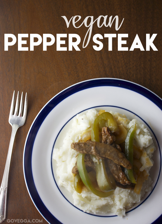 Vegan pepper steak // govegga.com