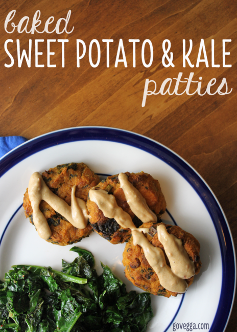 Baked Sweet Potato and Kale Patties // vegan // govegga.com