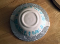 Vegan Butterprint Pyrex cake from Vegan Treats bakery