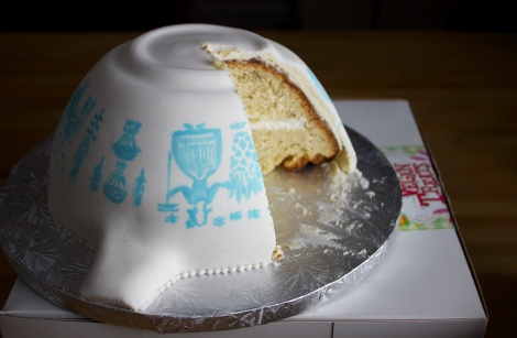 Vegan Butterprint Pyrex cake from Vegan Treats bakery