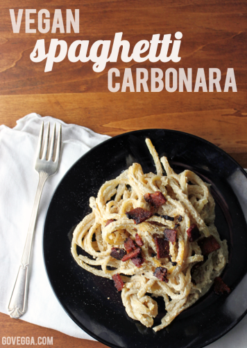Vegan pasta carbonara // govegga.com