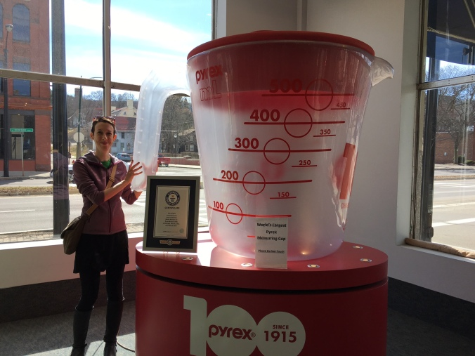 Pyrex measuring cup in Corning, New York