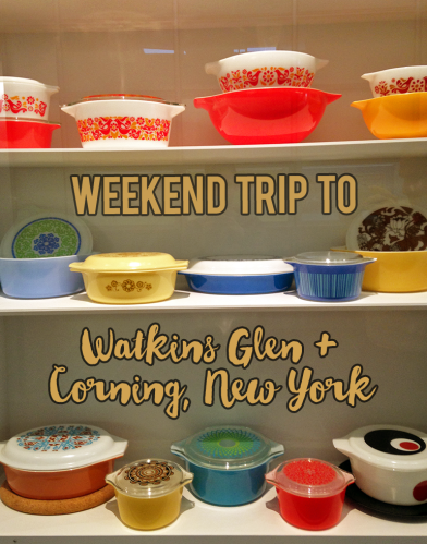 Vegan options for a weekend trip to Watkins Glen and Corning, New York