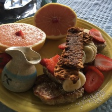 Vegan breakfast at Deer Run B&B, a vegan bed and breakfast in the Florida Keys