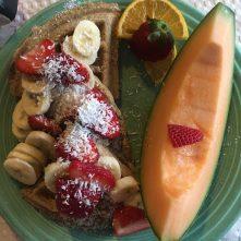 Vegan breakfast at Deer Run B&B, a vegan bed and breakfast in the Florida Keys