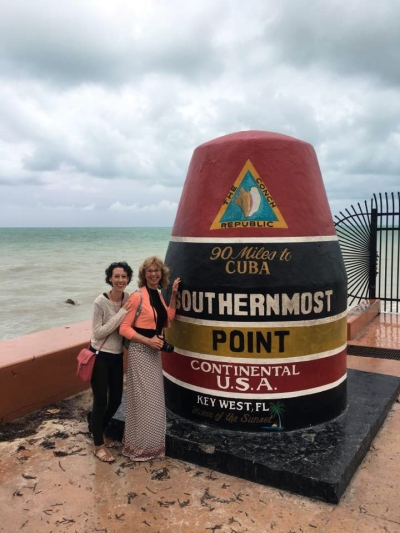Mom and me in Key West