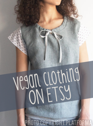Finding vegan clothing on Etsy // govegga.com