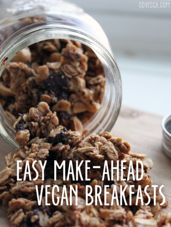 Make-ahead vegan breakfasts // govegga.com
