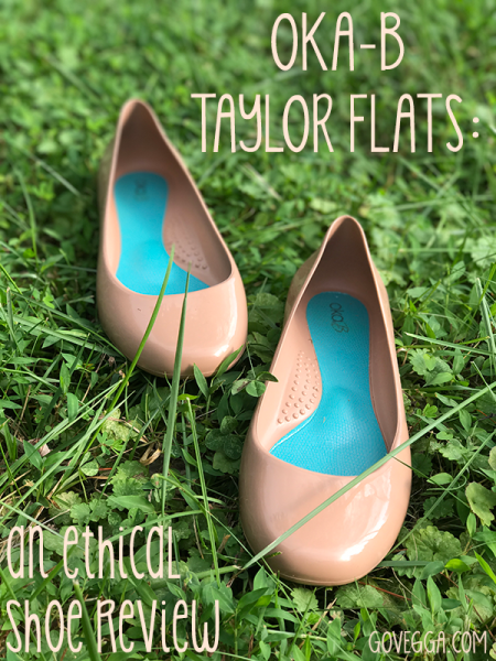 Oka-B Taylor flats: an ethical shoe review on govegga.com