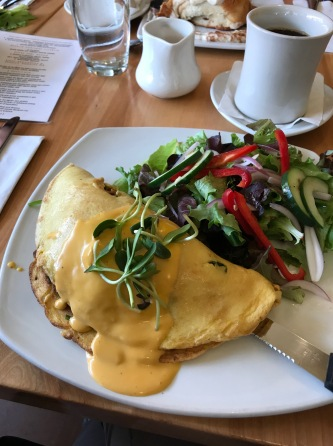 Vegan omelette at Great Sage