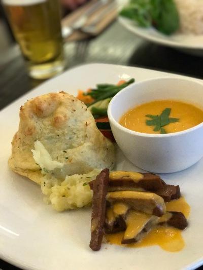 Vegan roast from 222 Veggie Vegan in London
