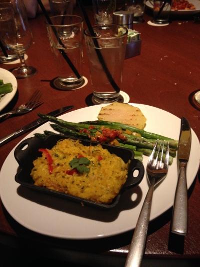 Vegan meal at Seasons 52