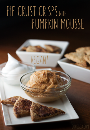 Pie crust crisps with pumpkin mousse // govegga.com