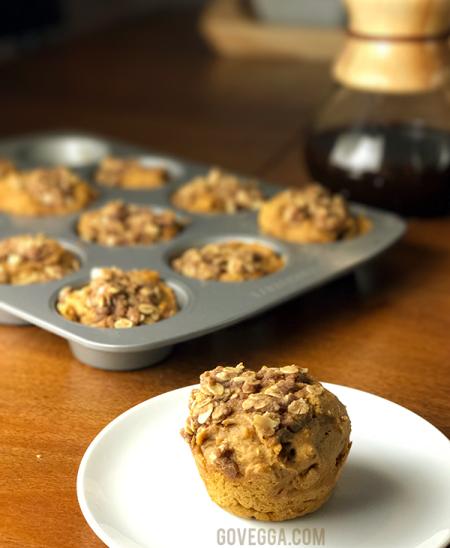 """""""Pumpkin"""" streusel muffins"""
