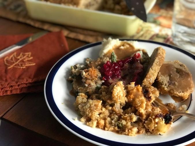 Vegan Thanksgiving plate