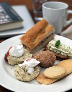 Vegan afternoon tea on a vegan Norwegian ocean cruise