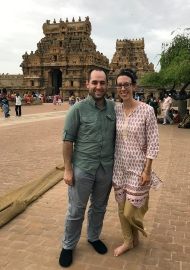 Kelly and Steven in South India