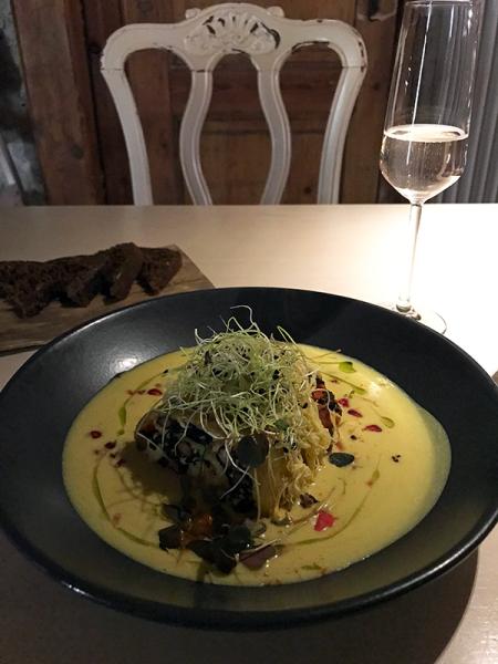 Vegan Restoran V // tofu-potato casserole