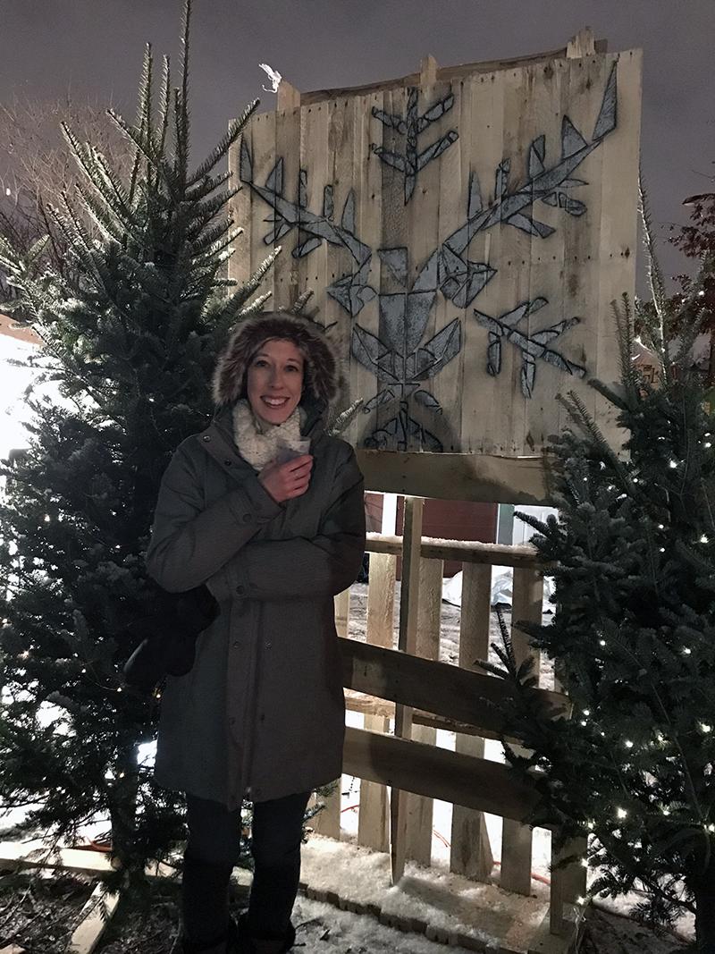 Christmas market in Montréal