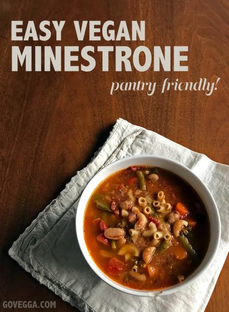 How to make vegan minestrone soup // govegga.com