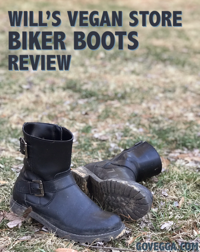 Review of Will's Vegan Store biker boots // govegga.com